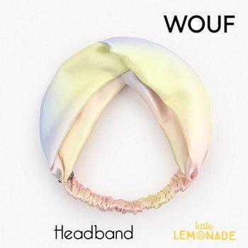 【WOUF】  ヘアバンド 【Tye and Dye】 HeadBand パステル タイダイ柄  マーブル ピンク ブルー ヘアバンド ヘアアクセサリー (HBA200003)