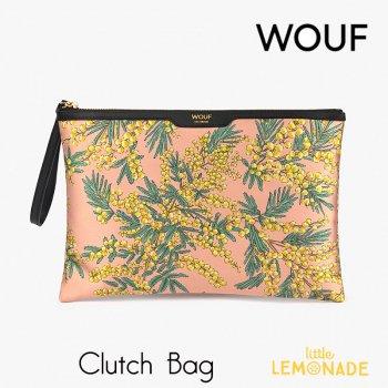 【WOUF】 クラッチバッグ Mimosa サテン生地 ミモザ  セカンドバッグ Clutch Bag バッグ  (CNA200002)