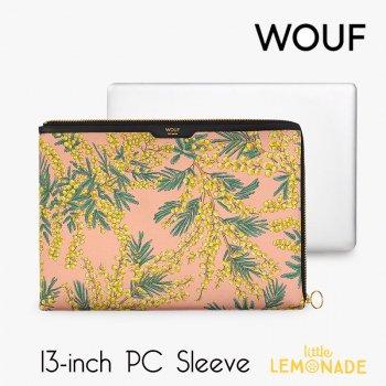【WOUF】 13インチ PCケース 【Mimosa】 サテン生地 パソコン用スリーブ PC Sleeve ミモザ 花柄   (SA200002)