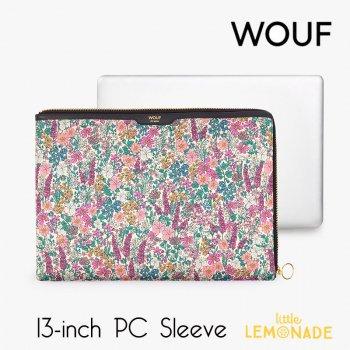 【WOUF】 13インチ PCケース 【Emmy】 サテン生地 パソコン用スリーブ PC Sleeve 花柄   (SA200001)