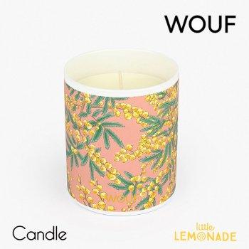 【WOUF】フレグランス キャンドル mimosa (ミモザの香り) Vegetable Wax Candle