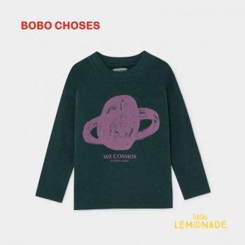 【BOBO CHOSES】 惑星デザイン 長袖Tシャツ 【6-7歳/8-9歳】 SATURN LONG SLEEVE T-SHIRT ボボショーズ アパレル AW