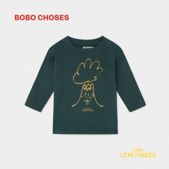 【BOBO CHOSES】VOLCANO 長袖Tシャツ【12M/24M/36M】 LONG SLEEVE T-SHIRT   ボボショーズAW