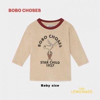 【BOBO CHOSES】 THE MOOSE LONG SLEEVE T-SHIRT ヘラジカ デザイン 長袖Tシャツ 12M/24M/36M  ベビー服   ボボショーズ  AW