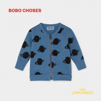【BOBO CHOSES】 ALL OVER BIG SATURN ZIPPED SWEATSHIRT ビッグサターン ジップ スウェット 12M/24M/36M ベビー服   ボボショーズ AW