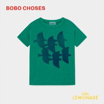 【BOBO CHOSES】 Flying Birds Tシャツ 【4-5歳/6-7歳/8-9歳】 T-Shirt  半袖 子供服  12001003 ボボショーズ  20SS SALE