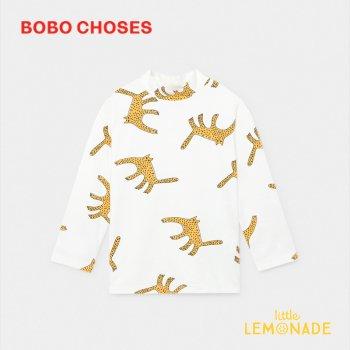 【BOBO CHOSES】 Leopards ラッシュガード 水着 【4-5歳/6-7歳/8-9歳】 Swim Top 長袖 スイムウェア 12001164  20SS SALE
