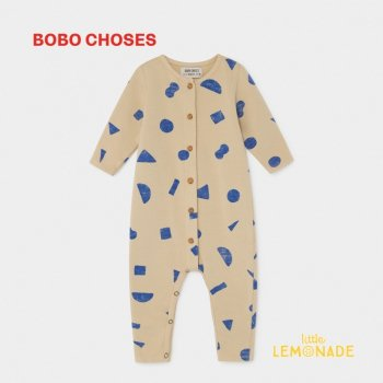 【BOBO CHOSES】 ALL OVER STUFF JUMPSUIT 幾何学デザインジャンプスーツ 12M/24M/36M  カバーオール 2019AW  ボボショーズ