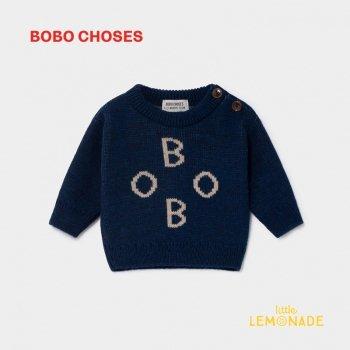 【BOBO CHOSES】 BOBO JACQUARD JUMPER ボボ ジャカード 12M/18M/36M ベビー服  ボボショーズ AW