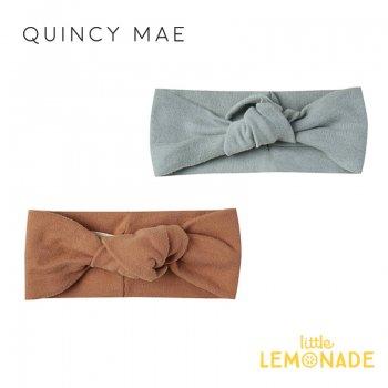 【Quincy Mae】 ベビーターバン Ocean/Rust 【0-12カ月/12-24カ月】 ヘアバンド