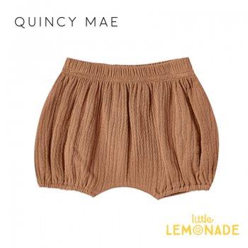 【Quincy Mae】 ブルマ Rust【6-12カ月/12-18カ月/18-24カ月】 Woven Bloomer ボトムス パンツ