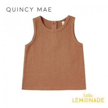 【Quincy Mae】 タンクトップ Rust【6-12カ月/12-18カ月/18-24カ月】 Woven Tank ノースリーブ トップス