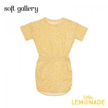 【Soft gallery】イエローのワンピース 4歳/8歳/10歳 CLEA DRESS 夏服 子ども服 個性的  ukati リトルレモネード (332611111) SALE