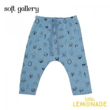 【Soft gallery】イラストブルー レギンス 6か月/9か月 HAILEY PANTS 夏服 子ども服 パンツ 個性的 オシャレ ukati リトルレモネード (332611321) SALE
