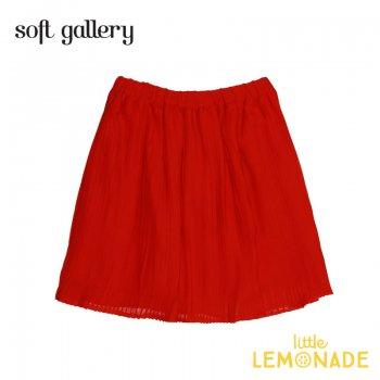 【Soft gallery】フレアスカート 赤 【4歳/8歳/10歳】  MANDY SKIRT 夏服 子ども服 女の子  ukati   (332611731) SALE