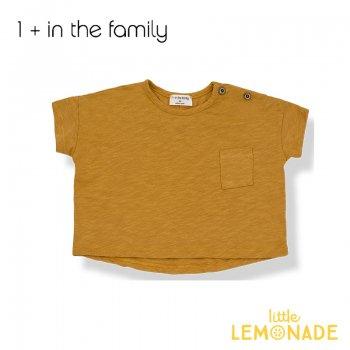 【1+ in the family】 ワイドショートTシャツ マスタード 6M/18M KLIMT コットン ベビー 子供 リトルレモネード ukati (336411061) SALE