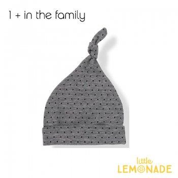 【1+ in the family】ベビー帽子/ダークブルー 2サイズ FINA  コットン ボンネット ベビー リトルレモネード ukati (336410341) SALE