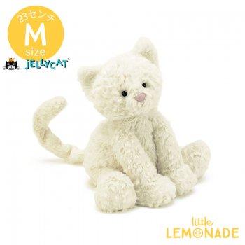 【Jellycat ジェリーキャット】 Mサイズ Fuddlewuddle Kitty 子猫 白いネコ ぬいぐるみ 【キティ ねこ キャット プレゼント】FW6KT
