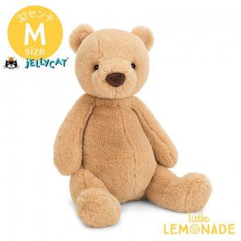 【Jellycat ジェリーキャット】 Mサイズ Puffles Bear ベア ぬいぐるみ 【くま ベージュ ブラウン】 PUF2B
