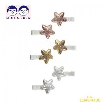 【Mimi&Lula ミミアンドルーラ】 MINI SUPER STAR SALON CLIP / 三二スーパースターヘアクリップ6個セット ヘアアクセサリー 女の子(ML10200908)