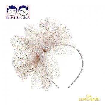 【Mimi&Lula ミミアンドルーラ】 FAIRY DUST TUTU BOW ALICE / シルバーチュチュカチューシャ ヘアアクセサリー 女の子(ML30206807)
