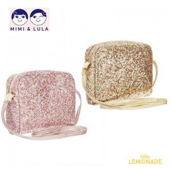 【Mimi&Lula ミミアンドルーラ】 MINI GLITTER CROSS BODY BAG / ゴールドorピンク 全2色(G:ML50301305 P:ML50301404)