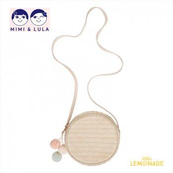 【Mimi&Lula ミミアンドルーラ】POM POM CHARM BASKET CROSS BOD/ ポンポンチャーム付き バスケットポシェット(ML50300661)