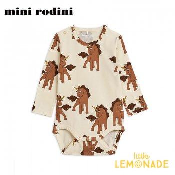 【Mini Rodini】ユニコーン ロンパース 【80/86サイズ 9か月-1.5歳】ボディ Unicorns aop ls body(20240110) 20SS  SALE