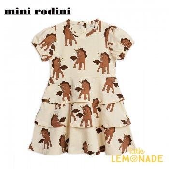 【Mini Rodini】ユニコーン 半袖ワンピース 【9か月-1.5歳/1.5-3歳】 子供服 ドレス Unicorns aop ss dress(20250120) 20SS  SALE