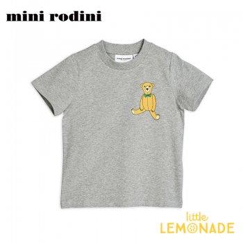 【Mini Rodini】テディーベア グレー 半袖 Tシャツ 【9か月-1.5歳/1.5-3歳/3-5歳/5-7歳】  Teddy sp tee(20220141) 20SS  SALE