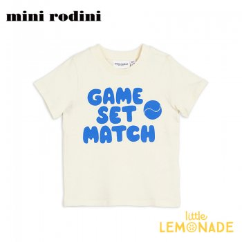 【Mini Rodini】GAME SET MATCH ブルー Tシャツ 【5-7歳/7-9歳】 子供服 ベビー服 夏服 Game sp tee BLUE (20220140) 20SS  SALE