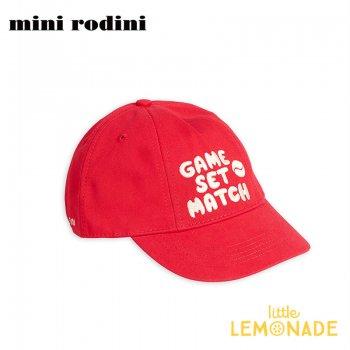 【Mini Rodini】キッズキャップ 【48/50サイズ 2-3歳】ミニロディーニ 帽子 キャップ 赤 20265105  Game set match cap 20SS SALE