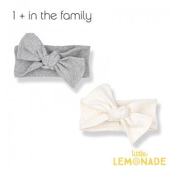 【1+ in the family】 ベビー ヘアバンド PATRICIA bandeau ホワイト グレー 女の子(376410171)