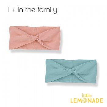 【1+ in the family】 ベビー ヘアバンド ADRIANA bandeau  ROSE/MINT 女の子 子供(376410391)