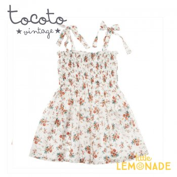 【Tocoto Vintage】Flowers dress 【2歳/3歳/4歳/6歳/8歳】 ワンピース 花柄  (S31620)  20SS SALE