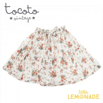 【Tocoto Vintage】Flowers skirt  【6歳/8歳】 スカード 花柄 (S31820)  20SS SALE