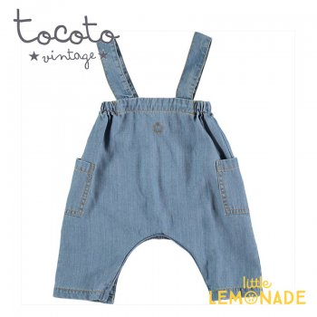 【Tocoto Vintage】Light denim baby dungaree 【12か月/18か月/2歳】 デニム ショート丈 オーバーオール (S40620) 20SS  SALE