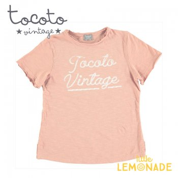 【Tocoto Vintage】T-shirt  SALMON 【2歳/3歳/4歳/6歳/8歳】 半袖 シャツ ピンク(S51920) 20SS SALE