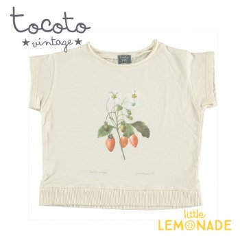 【Tocoto Vintage】T-shirt  Strawberry 【2歳/3歳/4歳/6歳】 半袖 シャツ イチゴ 苺 (S52320) 20SS SALE