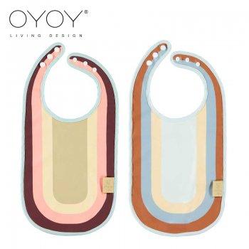 【OYOY Living】  Rainbow Bib  レインボービブ スタイ  Rose/Blue