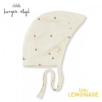 【Konges Sloejd】 ヨット柄 ボンネット 62cm【新生児-3か月】 帽子 MILLE MARINE OFF WHITE NEW BORN HELMET コンゲススロイド (KS1288)