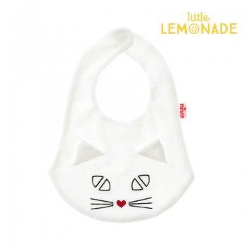 【niva】キャットビブ/ホワイト ねこ 猫  おしゃれスタイ よだれかけ ビブ スタイ  リトルレモネード(200 WHT )