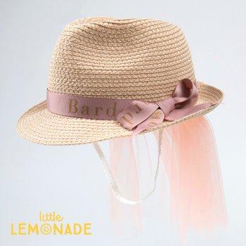 【niva】 Bardow チュール付き麦わら帽子/ Straw Hat with Tulle おしゃれ 帽子 ハット ストローハット お祝い プレゼント リトルレモネード(BRD1801)