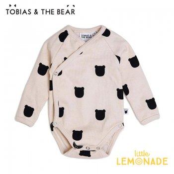 【Tobias & The Bear】 ブラッシュベアー 長袖ボディ 【3-6/6-12/12-18か月】 ロンパース Blush Bear long sleeve kimono (BLBEKI)