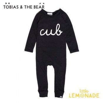 【Tobias & The Bear】 Cub ブラックカバーオール 長袖長ズボン 【6-12/12-18/18-24か月】 Cub long romper (CUBLR)
