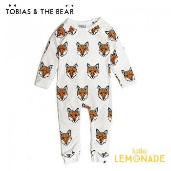 【Tobias & The Bear】 キツネ カバーオール 長袖長ズボン 【3-6/6-12/12-18か月】 Just Call Me Fox long romper  (FOXCLR)