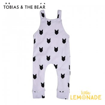 【Tobias & The Bear】 ライラックフォックス サロペット 【3-6/6-12/12-18/18-24か月】 Lilac Fox dungarees   (LIFOXD)