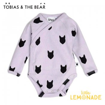 【Tobias & The Bear】 ライラック フォックス 長袖ボディ 【3-6/6-12か月】 ロンパース Lilac Fox long sleeve キツネ  (LIFOXKI)