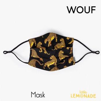 【WOUF】 フェイスマスク/ブラックレオパード【Black Leopard Mask】 再利用マスク レオパード ヒョウ柄 ブラック 黒 豹 おしゃれ リトルレモネード (FM180009)