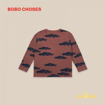 【BOBO CHOSES】 Clouds All Over Buttoned T-shirt 【4-5Y/6-7Y/8-9Y】 Tシャツ 子供服 22001022 ボボショーズ 20AW